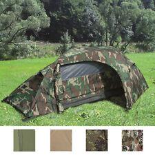 Mil-Tec Einmannzelt RECOM Angelzelt Festival Zelt Campingzelt 1 Person Armeezelt