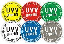 Prüfplakette, Plakette, UVV Geprüft BGV D27 Stapler Kran BGR Kratz-Wasserfest
