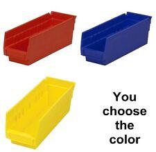 "24 Pack 11 5/8"" x 4 1/8"" x 4"" Plastic Inventory Storage Nest Shelf Parts Bins"