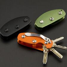 Metal Key Case Organizer Pocket Holder Keeper Keyring Swiss Knife Style Key Fob