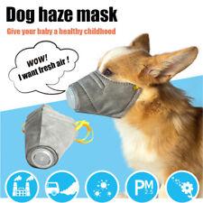 3Pcs Pet Dog Mask Cotton Mouth Muffle Anti Haze Fog Pm2.5 Breathable Puppy Masks
