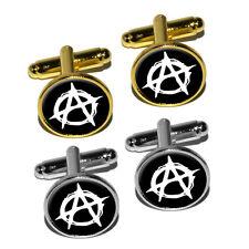 Anarchy Symbol Round Cufflink Set