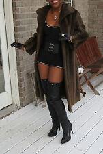 Mint young Designer full length Demi sheared beaver Fur Coat Jacket Bolero S-8