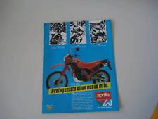 advertising Pubblicità 1985 MOTO APRILIA ETX 350