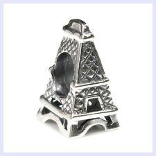 925 Sterling Silver Travel Eiffel Tower Vacation Bead f/ European Charm Bracelet
