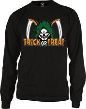 Trick Or Treat Grim Reaper Death Halloween Angel Scythe Skeleton Men's Thermal