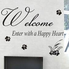 Benvenuto Adesivo Muro Quotes Lettering finestra muro parole frasi Adesivo Decalcomania