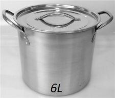 HIGH QUALITY 6 Litre Deep Stainless Steel Stock Soup pot Stew Pan Casserole