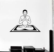 Wall Decal Yoga Zen Meditation Hindu Prayer Vinyl Stickers (ig2953)