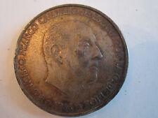 1966 SPAIN (SPANISH) 100 PESETAS FRANCISCO FRANCO CAUDILLO BUST COIN