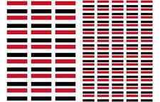 Yemen Flag Stickers rectangular 21 or 65 per sheet