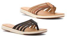 Emu Australia Women's Palmgrove Sandals Fashion Flip Flops - Black & Tan