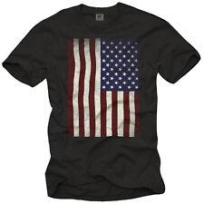 Stati Uniti Bandiera T-shirt Uomo America US FLAG United States America Vintage T-shirts