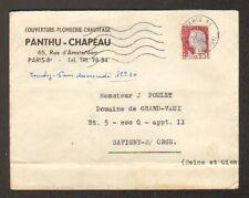 """PARIS (VIII°) COUVERTURE PLOMBERIE CHAUFFAGE """"PANTHU & CHAPEAU"""" en 1962"""