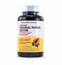American Health Original Papaya Enzyme Chewable Digestive Aid Tablets (250 Tabs)