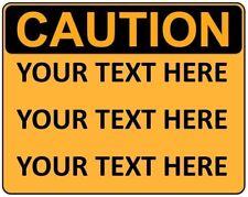 Personalizzata personalizzato Avvertimento Attenzione Pericolo Segno autoadesivo Autoadesivo