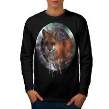 Fox Naturaleza Animal Salvaje Hombre Manga Larga T-shirt new   wellcoda
