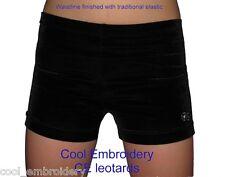 Velvet gymnastics dance aerobics shorts match CE leotards CHILD *Colour Choice