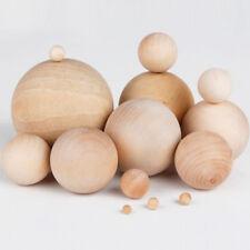 Legno Naturale Craft Sfere Legno Perline Sfera con Foro 30mm per 60mm Diametro