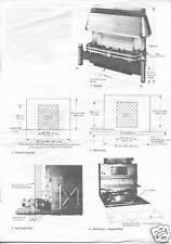 BAXI BERMUDA Gas Fire, Back Boiler, INSET 2 50/4, Service Instructions on a CD.