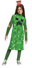 Creeper Girl Classic Costume MineCraft Halloween Child Green Camo