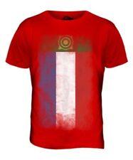 Chakassien Verblaßte Flagge Herren T-Shirt Oberteil