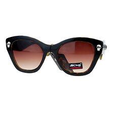 Skull Studded Womens Sunglasses Thick Oversized Butterfly Frame