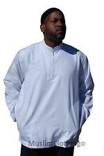 NEW Long Sleeved White Men's Shirt w/zipper Muslim Clothing Mumtaz Islamic