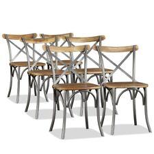 vidaXL 2/4/6x Chaise de Salle à Manger Bois de Manguier Massif Acier Cuisine