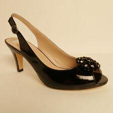 Lotus Fascination Open Back Peep Toe Dress Shoe Black Patent Leather £37.99