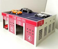 1/43 1/50 DIY assembly model Fire truck garage City logistics warehouse