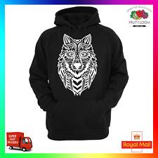 Zentangle Wolf Hoodie Hoody Unisex Bohemian Art Fresh Cool Pack Xmas Striking