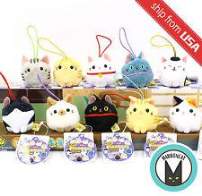 Japan Amuse Puchimaru Cat Neko Nyanko-tai Mini Mascot Plush Phone Strap Kawaii