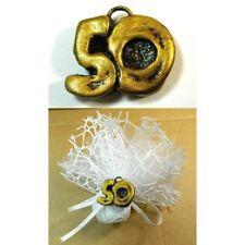 25pz Bomboniera Segnaposto Festa 50 Anni Compleanno Nozze Matrimonio Numero Oro