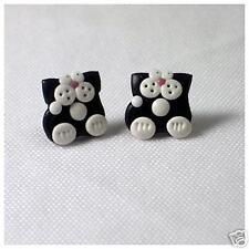 black cat stud earrings emo cute