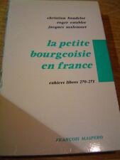 La petite bourgeoisie en france Maspero cahiers libres