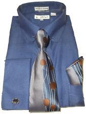 Mens Karl Knox Earthy Tan French Cuff Dress Shirt Awesome Paisley Tie SX4363