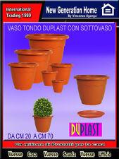 Vaso fioriera in plastica varie dimensioni terracotta fiori piante VULCANO HOBBY