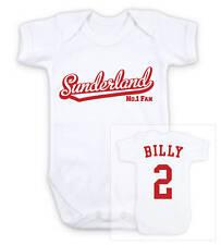 SUNDERLAND Football Personalised Baby Bodysuit Vest