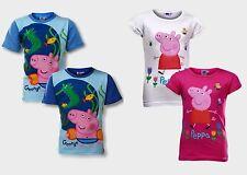BOYS GIRLS PEPPA PIG GEORGE T-SHIRT TOP TSHIRT AGE 2 3 4 5 6 BNWT FREE P&P