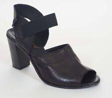Lemare Pel. Dixan UTF 554 Womens Black Leather Elastic Slingback Heels Shoes