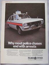 1971 Hillman Avenger Police car Original advert No.1
