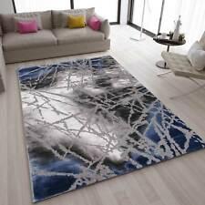 Teppich Abstrakt Used Optik in Blau Grau