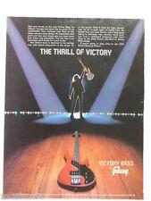 retro magazine advert 1981 GIBSON victory bass