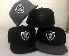 Oakland Raiders Snap Back Cap Hat Embroidered Adjustable Flat Bill Las Vegas Men
