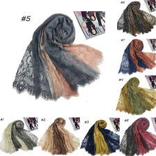 Women Cotton Flower Lace Scarf Muslim Hijab Shawls India Islam Turkish Head Wrap