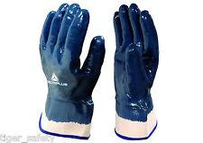 Delta Plus Venitex NI175 Heavy Duty Blue Nitrile Open Cuff Work Gloves Size 9-11
