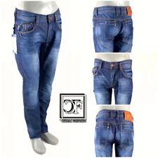 HERREN Men Fashion DENIM JEANS Hose blau