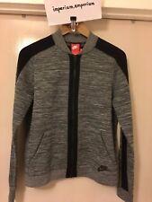 Nike Women's Tech Knit Bomber Jacket Dark Heather & Black Size S & L