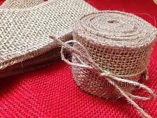 Luxury Soft Woven Mesh Natural Rustic Jute Burlap Hessian Ribbon Wedding Cards